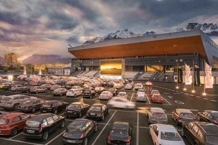 Olympiaworld Innsbruck richtet Autokino ein